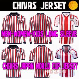 6bb71b5bf09 Chivas de Guadalajara World Cup Soccer Jerseys MEXICO Club LIGA MX 2018  2019 Long Sleeve A.PULIDO 18 19 Mens Kids Women Football Shirts