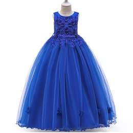 $enCountryForm.capitalKeyWord UK - 4-14 year teenager Kids Girls Wedding Beading Flower Girl Dress elegant Princess Party Pageant Formal Sleeveless Tulle Dress