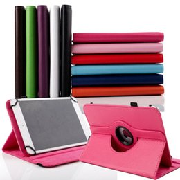 7.85 tablet pc UK - Universal 360 Rotating Adjustable Flip PU Leather Stand Case Cover For 7 8 10 10.1 10.2 inch Tablet PC MID Samsung iPad Huawei XiaoMi