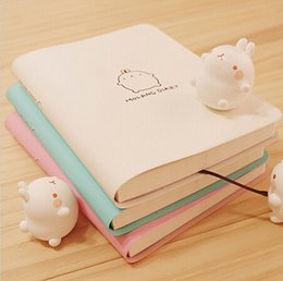 $enCountryForm.capitalKeyWord Canada - 2017-2018 Cute Kawaii Notebook Cartoon Molang Rabbit Journal Diary Planner Notepad for Kids Gift Korean Stationery Three Covers