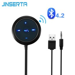Streaming Audio Australia - JINSERTA Wireless Car 3.5mm Bluetooth V4.2 Receiver Music Audio Receiver Adapter Hands-free Car Kit A2DP Streaming Kit