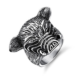 $enCountryForm.capitalKeyWord UK - 12 Chinese Zodiac Pig Fashion Simple Men's Animal Rings Stainless Steel Ring Jewelry Gift for Men Boys 587
