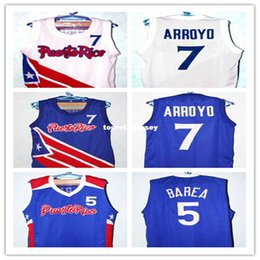 Cheap CARLOS ARROYO  7 Jose JJ Barea  5 TEAM PUERTO RICO JERSEY WHITE  AUTHORIZED NEW SEWN ANY SIZE Retro vest T-shirt Embroidery Stitched 6fcb2cdf6
