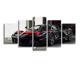 $enCountryForm.capitalKeyWord Australia - 5 pieces high-definition print sports car canvas oil painting poster and wall art living room picture C5-20