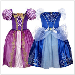 Chinese  2017 Girls Dress Snow White Princess wedding Dress Rapunzel Aurora costume for kids Clothes Party Dresses roupas infantis menina manufacturers