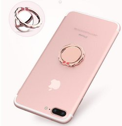 Tie mounTs online shopping - Phone Ring Magnetic Car Mount Holder with Mirror Mobile Phone Bracket Finger Ring Grip degree Rotating Bow tie