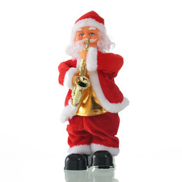 White duck cloth online shopping - Christmas doll electric Santa step singing Christmas decorations Santa children s gifts ornaments