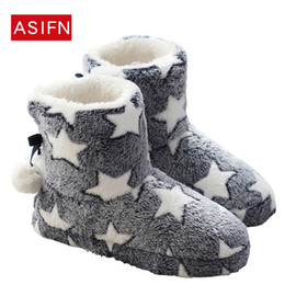 $enCountryForm.capitalKeyWord NZ - Women Boots Winter Warm Fur Mid-calf Boots Star Warm Plush House Indoor Shoes Woman Flats Comfort Thick Sold Botas Mujer Zapatos