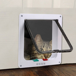 $enCountryForm.capitalKeyWord NZ - Lockable Dog Cat Security Flap Door Security Flap Door ABS Plastic Size L Animal Small Pet Cat Dog Gate Pet Puppy Supplies