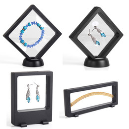 Glass watch display stand online shopping - 4Pcs Bulk Price Transparent PET Suspension Window Gift Box Watch Genstone Dismond Coin Necklace Jewelry Display Stand Holder Rack