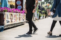 $enCountryForm.capitalKeyWord Canada - Mens Cotton Lightweight Black Ripped Sweat Pants Bottom Zipper Active Pants Street Style Trunks Free Shipping