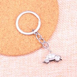 $enCountryForm.capitalKeyWord NZ - Fashion 28mm Key Ring Metal Key Chain Keychain Jewelry Antique Silver Plated 3D car 23*15mm Pendant