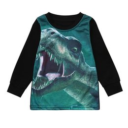 $enCountryForm.capitalKeyWord Canada - Cute Comfatable Children Long Sleeve Dinosaur Print T-Shirt Top Black Boys Girls Fashion Autumn Winter Kid Clothing Top Selling