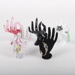 Wholesale TONVIC Plastic OK Hand Form For Bracelet Ring Display Stand Holder Mannequin For Jewelry Display