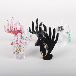 Mannequin for ring online shopping - TONVIC Plastic OK Hand Form For Bracelet Ring Display Stand Holder Mannequin For Jewelry Display