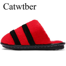 $enCountryForm.capitalKeyWord UK - Catwtber New Shoes Women Soft Velvet Indoor Floor Slippers Cute Home Slippers Soft Bottom Winter Warm Shoes for Bedroom