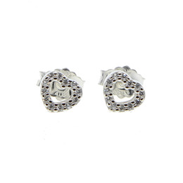 $enCountryForm.capitalKeyWord NZ - 100% 925 Sterling Silver Jewelry Fashion Cute Tiny Hollow Heart Stud Earrings Gift For Kids or women wedding love earring 2018 new