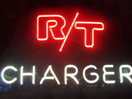 "custom neon commercial signs NZ - R T Charger Road Track Neon Sign Commercial Custom Real Glass Tube Store Motel Company Display Neon Signs 17""X14"""