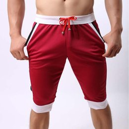 $enCountryForm.capitalKeyWord Canada - Wholesale- Ahkuci 2017 Summern Leisure Sporting Shorts Men Elastic Brand Gyms Mens Short Fashion Quick Dry Outer Wear Fitness Short At Home