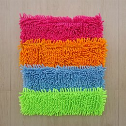 pedal pads NZ - Chenille Flat Mop Cover Head Replacement Refill Convenient Mops Covers Floor Clean Pad Household Cleaning Tools Water Uptake 2 94jb X