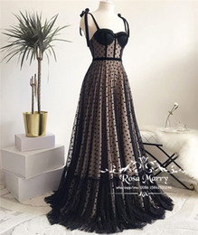 $enCountryForm.capitalKeyWord Australia - Gothic Black 1950S Cheap Prom Dresses 2019 Chic A Line Polka Dot Plus Size Arabic African Formal Evening Party Gown Vestido De Festa