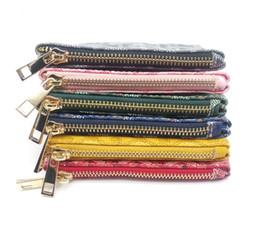 England tiE online shopping - 2018 High quality leather wallets Women s men pocket wallet Fashion designer purses Metal zipper European style purse