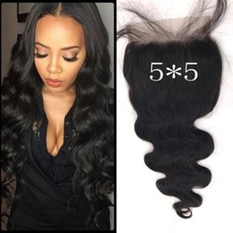 Chinese Knots NZ - 5*5inch Free Part Top Lace Closures Bleached Knots Virgin Mongolian Human Hair Closure With Baby Hair 8-22inch LaurieJ Hair