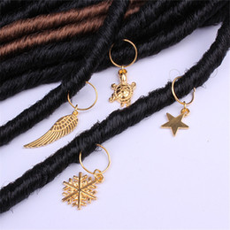 Hair Braid Jewelry Hard-wearing Easy to Use Multiple Polished Hair Cuffs Braid Rings Hair Pendants Jewelry H1473 on Sale