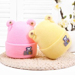 Discount puppy baby hats - Puppy TOY Baby Cashmere Hat Autumn And Winter Explosion Models Newborn Knit Hat Baby Warm Protection Halogen