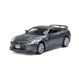 Charming Kinsmart GTR R35 Gray 2 Open Door Sport Car 1 36 Alloy Metal Racing Vehicle  Diecast Metal Pull Back Car Sport Cars Toy For Gift Collection