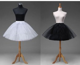 $enCountryForm.capitalKeyWord Australia - New Arrival Short Petticoat Crinoline Underskirt White Black Tutu Bridal Wedding Bridal Accessories Dress Skirt Slip 2019