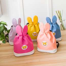 $enCountryForm.capitalKeyWord NZ - Mother And Children Matching Backpack Korean Fashion Kids Shoulder Bags Cute Rabbit Big Ears Shape Baby Snack Bags Teenger Kids Travel Bag