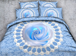 3d Bedding Set White Rose Australia - 3D blue rose Duvet Cover flowers bedding sets queen floral Bedspreads Holiday Quilt Covers Bed Linen Pillow Covers