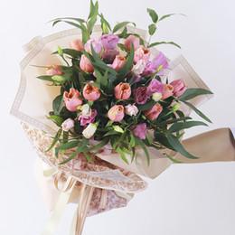 Bond Coating Australia - 40PCS Vintage Waterproof Flower Wrapping Paper Florist Bouquet Packaging Supplies Flower Shop Material 60*60 cm free shipping