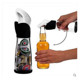 $enCountryForm.capitalKeyWord NZ - Kitchen Dining Barware Bar Tools Acrylic Beer Bottle Opener Openors With Storage Bottles Cap Bar Tools
