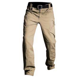 4b6de88b IX7 IX9 Tactical Pants Cargo Pants Men Casual Pant Work Trousers Army Style  Pantalon Black Thin Combat Baggy Trousers