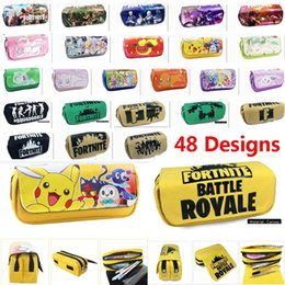 Box student pencil online shopping - Fortnite And Pikachu Pencil Bags Case Cartoon Student Wallet Large Capacity Stationery Storage Bag Designs HH7