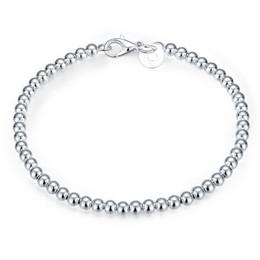 $enCountryForm.capitalKeyWord UK - 925 sterling silver 4mm   6mm   8mm   10mm hollow ball beads Bracelet for women free shipping, 925 silver women's jewelry