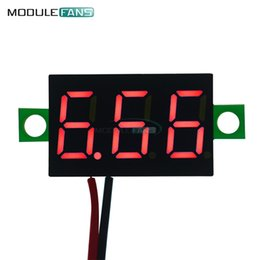 $enCountryForm.capitalKeyWord Australia - 0.36 Inch Mini Digital LED Display Voltmeter Red Panel Voltage Meter DC 4.7~32V 3-Digit Display Adjustment Voltmeter