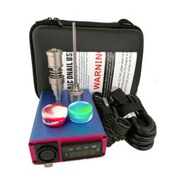$enCountryForm.capitalKeyWord NZ - Hot E Quartz Nail Dab Electric Nail Box Complete Kit 20 MM Heating Coil Temperature Controller 100W Quartz Nail Glass Bongs Water Pipe Rig