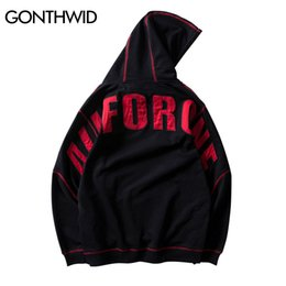 comics hoodie NZ - GONTHWID Harajuku Japanese Comic All for One Men Hoodies 2018 Hip Hop Casual Cotton Embroidery Hooded Sweatshirt Streetwear Male