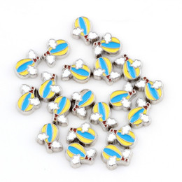 charmed memories charms NZ - 10PCS lot Enamel Hot Air Balloon DIY Floating Charms For Glass Living Memory Lockets Jewellery Gifts