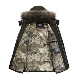 mens faux fur jackets UK - Winter Mens Jacket with Faux Fur Collar Casual Patchwork Cotton Padded Hooded Parkas Coat L-5XL