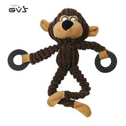 Discount toy monkeys sound - Pet Squeak Toys of Little Monkey Lovely Corduroy Chew Toys Built In Sounder