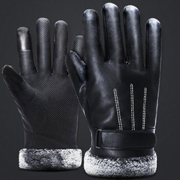 $enCountryForm.capitalKeyWord NZ - Leather gloves men winter cycling fleece thickened ski windproof waterproof touch screen protective motorcycle outdoor sports