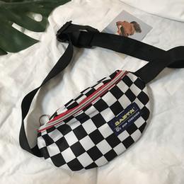 $enCountryForm.capitalKeyWord NZ - mylb Hot sale Waist Bag Women men Unisex leg bag Female Shoulder belt phone Big Promotion Lattice Checker board fanny pack