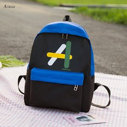 $enCountryForm.capitalKeyWord Canada - Fashion Students Backpack Canvas Hit Color Shoulder Bag School Bag Tote High Quality Backpacks for Teenage Bagpack mochila