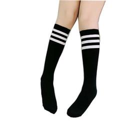Chinese  New High-Knee Socks Babys Girls Autumn Warm Football Strips Sock Cotton School Soccer Boots Sport Long Leg Socks manufacturers
