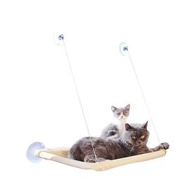 Janela Balcão Cats Cama Monolayer com Sucker Hammock Pendurado Estabela Assento Suave Rolamento Perceira Cats Cat Sleep 14Ls JJKK em Promoção