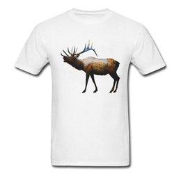 87ffdafb7b05 The Rocky Mountain Elk Tshirts Summer Tees Short Sleeve Plain 100% Cotton  Design T-Shirt Men Unique Young Animal T Shirt Deer